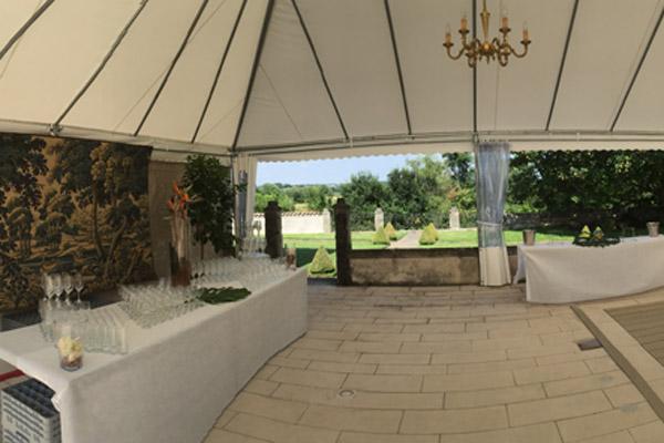 Terrasse des jardins à la française pour vos séminaires